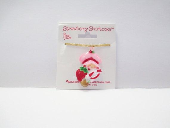 Vintage 80's Original Strawberry Shortcake Necklac