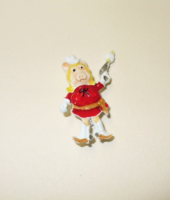 Vintage Miss Piggy Pin DEADSTOCK