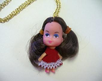 Vintage Little Kiddles Doll Necklace DEADSTOCK Audrey