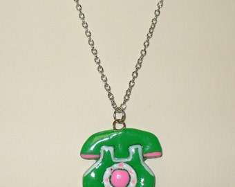 Vintage Telephone Necklace DEADSTOCK