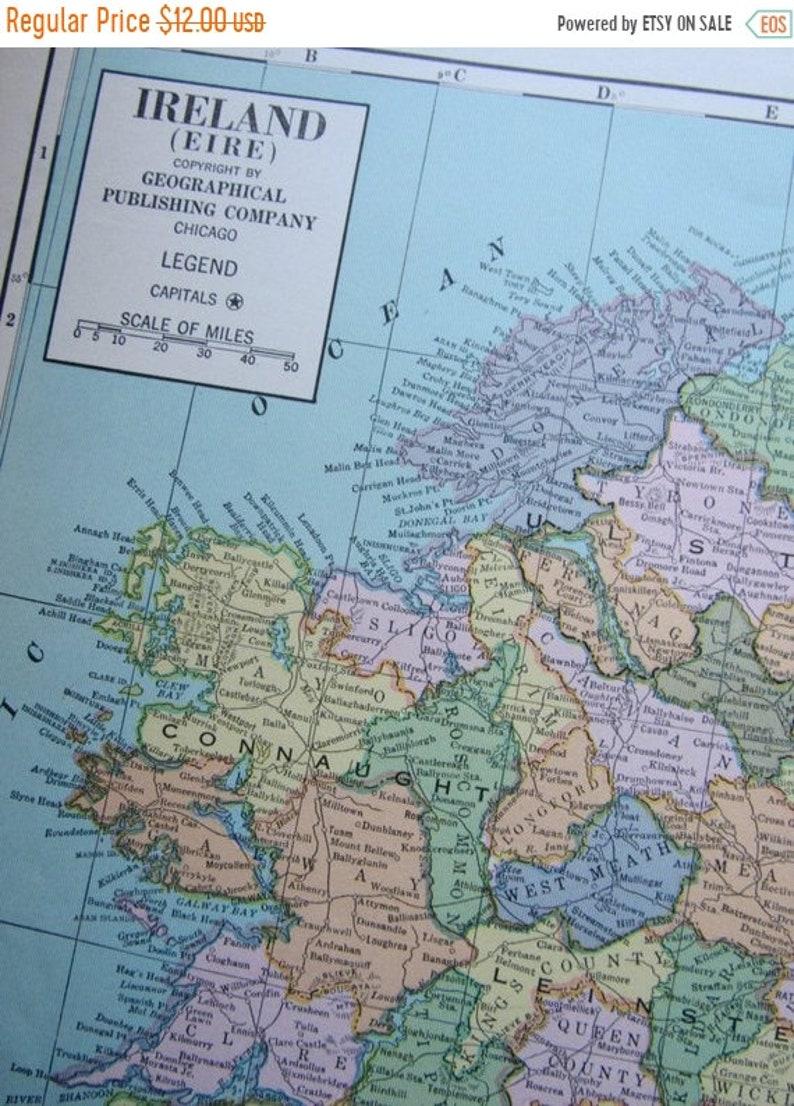 Carte Angleterre Irlande Ecosse.Vente 1942 World Atlas Carte Irlande Angleterre Et En Ecosse Etsy