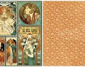 Graphic 45, Steampunk Debutante, Nouveau Artistry, 12 x 12 Single Sheet, Vintage Retired