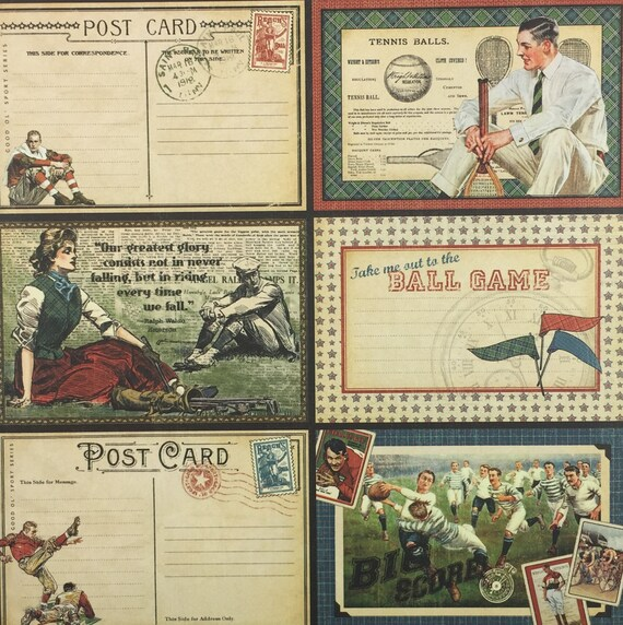 double sided Graphic 45  2 sheets Good ol/' sport collection Touchdown