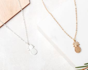 PUSH PINEAPPLE Gold or Silver Plated Necklace