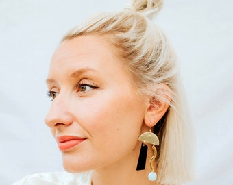 TENTILLA abstract earrings on gold filled earwires