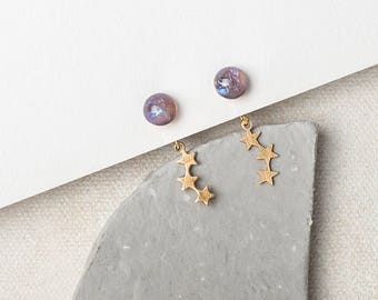 STAR EXPLOSION II Front and Back Earrings