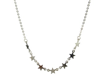ETOILE Tiny Stars Necklace in Gold or Silver