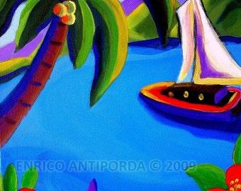 Lahaina, Acrylic on Canvas, 16 x 20