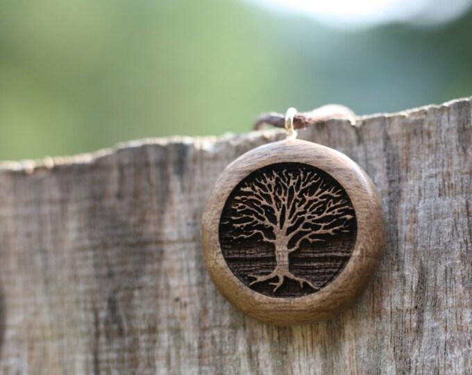 Oregon Myrtlewood Tree Pendant