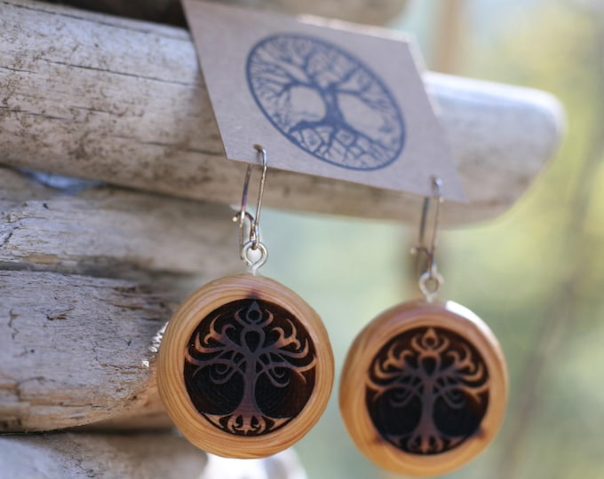 Red Cedar Tribal Tree Earrings