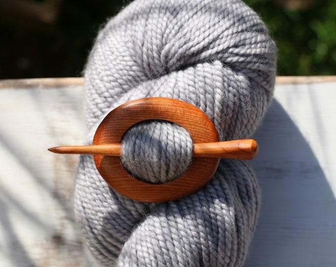 Shawl Pin in Oregon Yew Wood