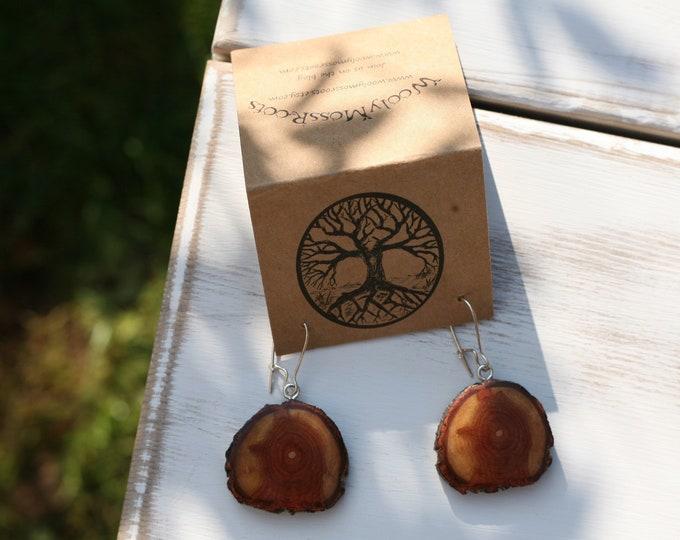 Diamond Willow Wood Earrings