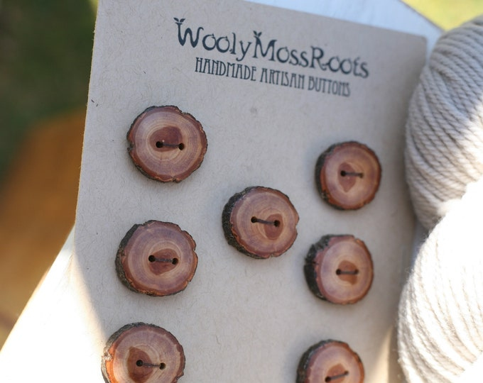 8 Buttons in Diamond Willow Wood