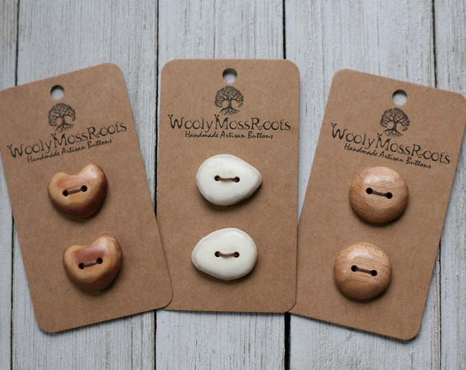 Handmade Button Mix {6 Buttons}