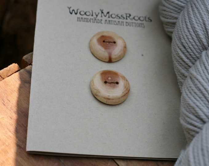 2 Diamond Willow Wood Buttons