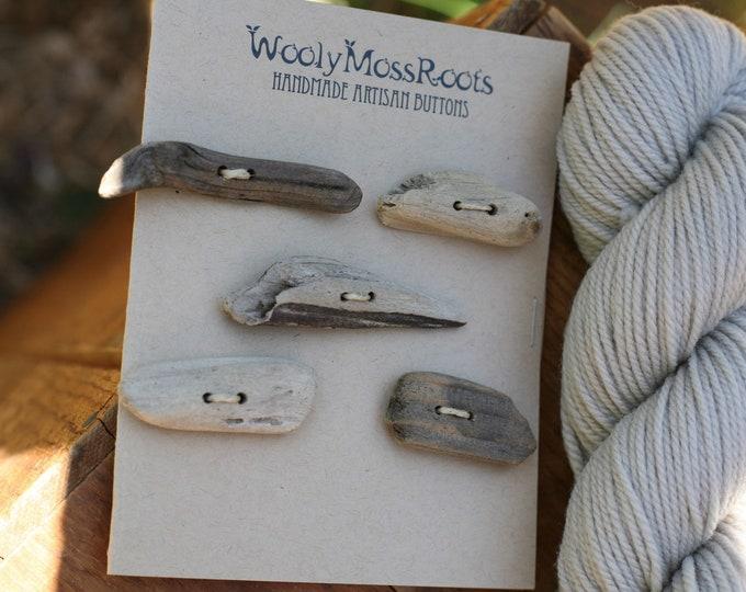 5 Oregon Coast Driftwood Toggle Buttons