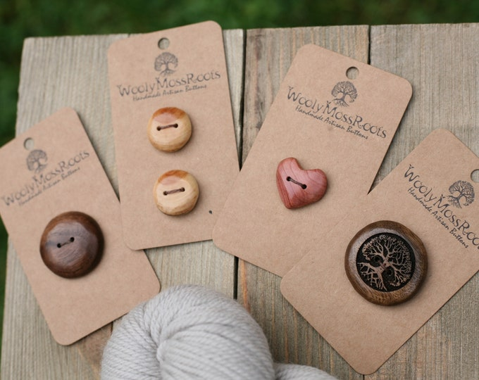 Handmade Button Mix {5 Buttons}
