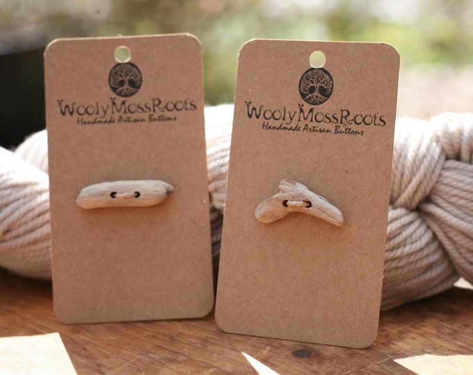 2 Oregon Coast Driftwood Toggle Buttons {Small}
