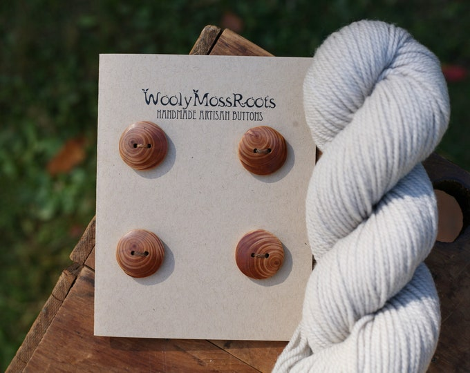 4 Rustic Wood Buttons in Oregon Hemlock