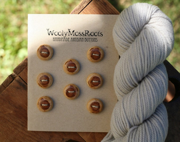 8 Diamond Willow Wood Buttons