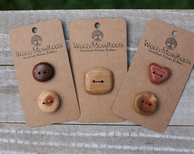 Handmade Button Mix {5 Buttons}