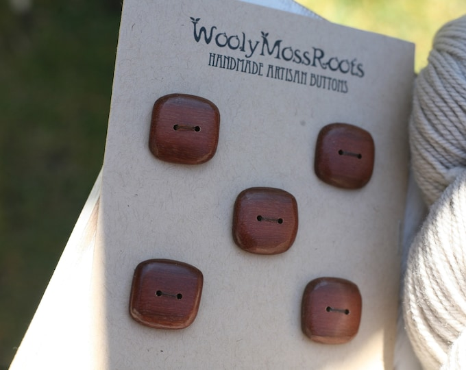 5 Reclaimed Ironwood Buttons