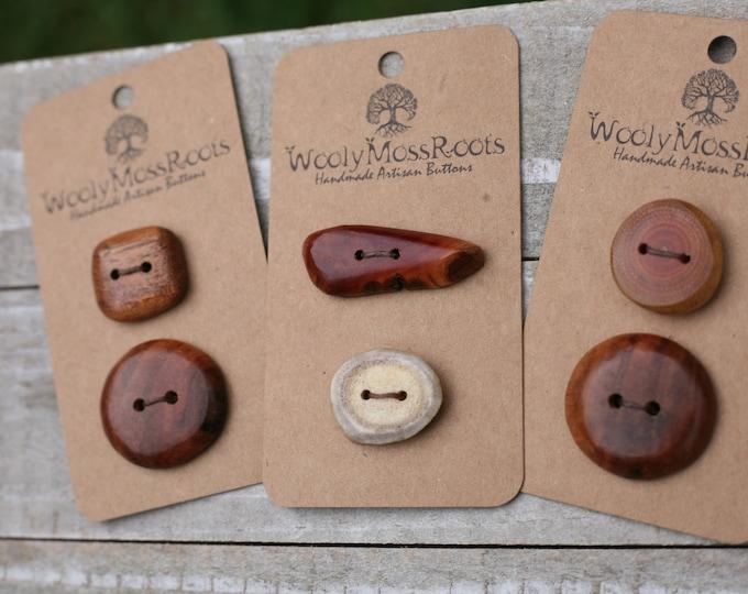 Handmade Button Mix {6 Buttons}