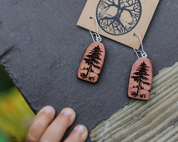 Forest Love Earrings : Red Cedar {Aromatherapy Earrings}