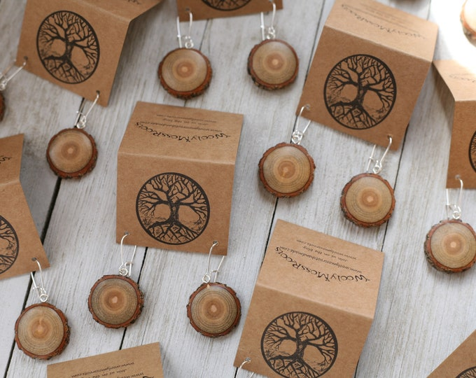 Sassafras Wood Earrings