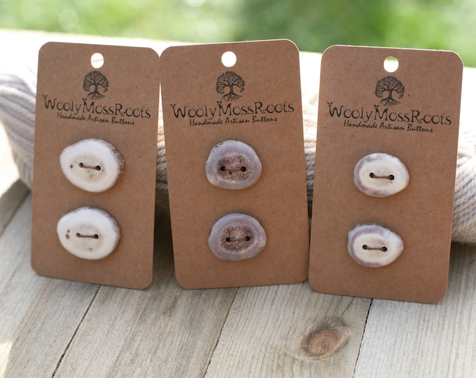 Button Mix in Shed Deer Antler {6 Buttons}