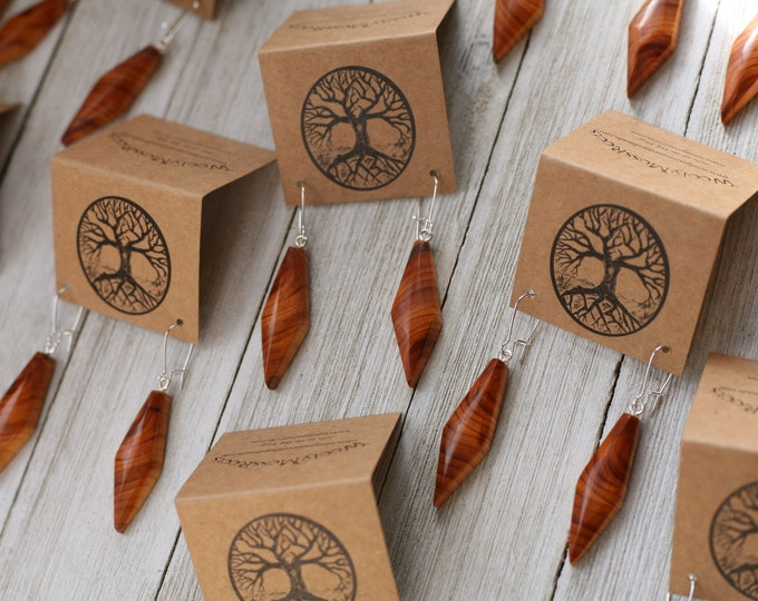 Oregon Yew Wood Earrings