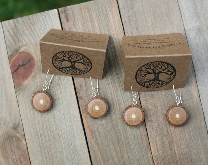 Small Wood Earrings in Sassafras {2 available}
