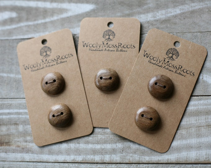 "Wood Buttons in Oregon Myrtlewood {5/8""}"