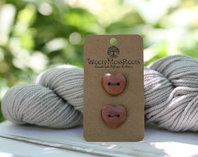 Red Cedar Heart Buttons {Made To Order}