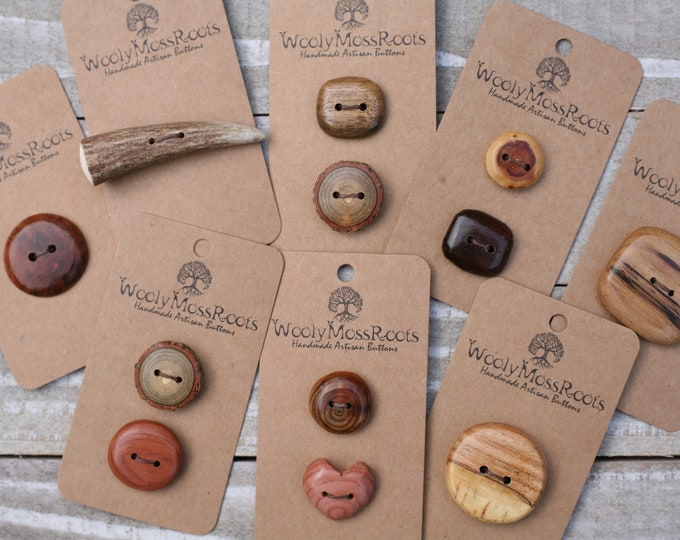 Handmade Button Mix {12 Buttons}