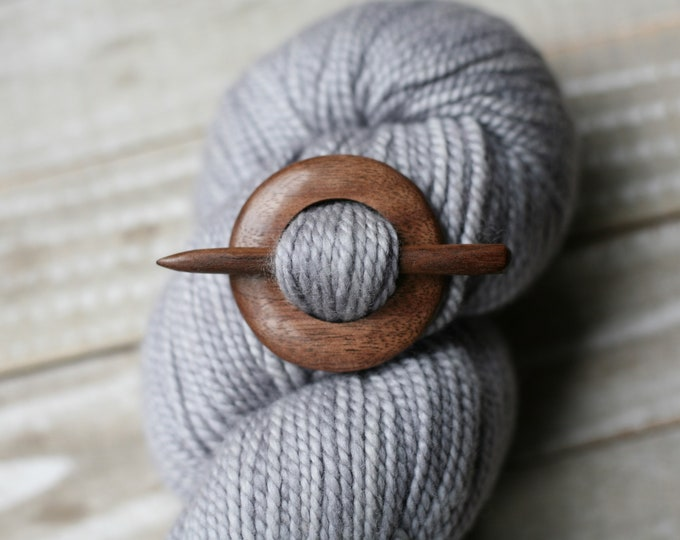 Shawl Pin in Black Walnut
