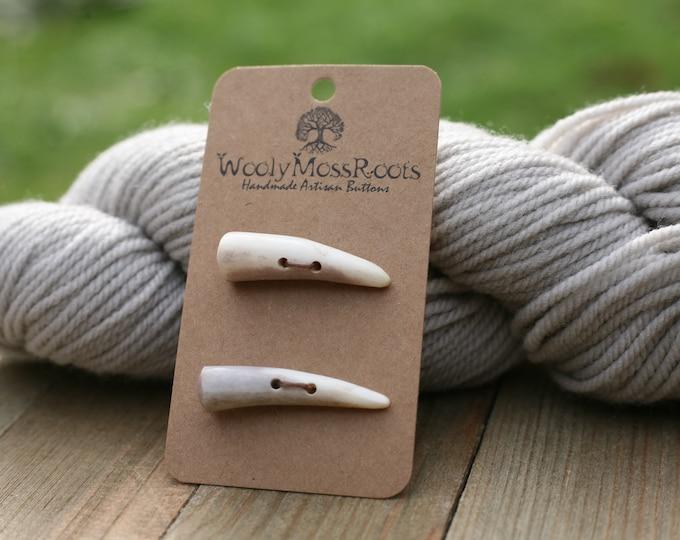 2 Shed Deer Antler Toggle Buttons