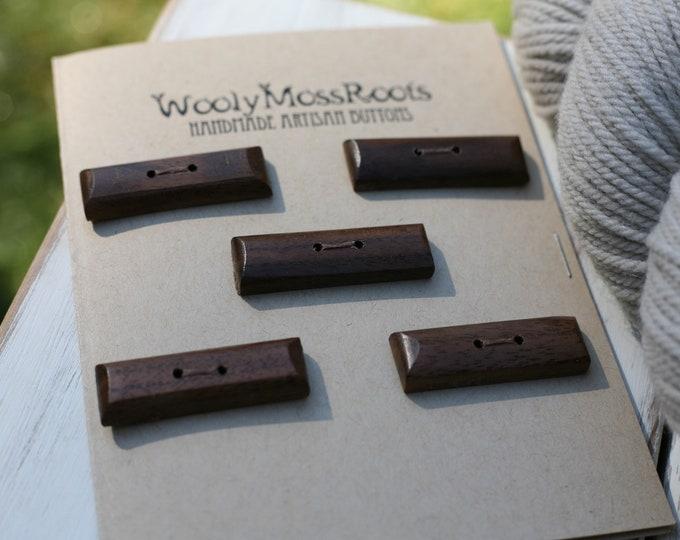 5 Toggles in Black Walnut Wood