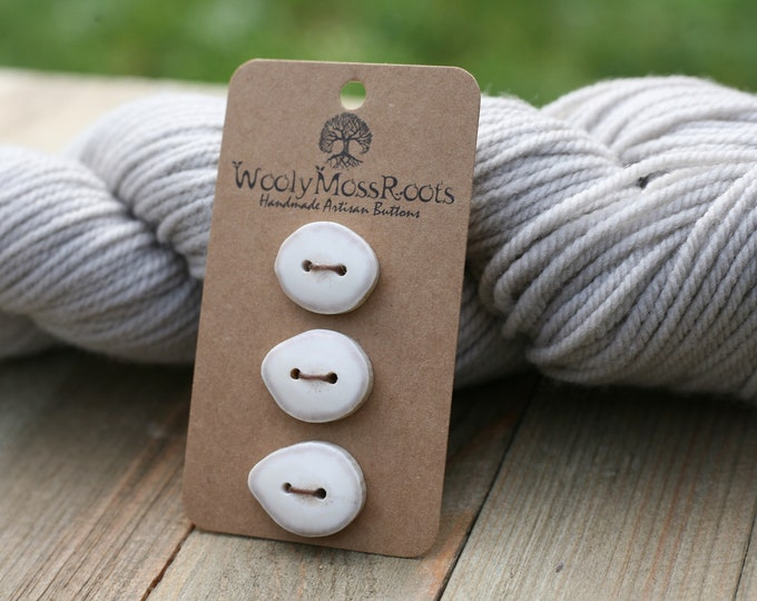"3 Buttons in Shed Deer Antler {6/8"" - 7/8""}"