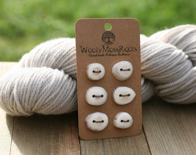 Tiny Button Mix in Shed Deer Antler {6 Buttons}