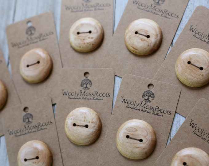 "Reserved- Maple Wood Buttons {1.25""}"