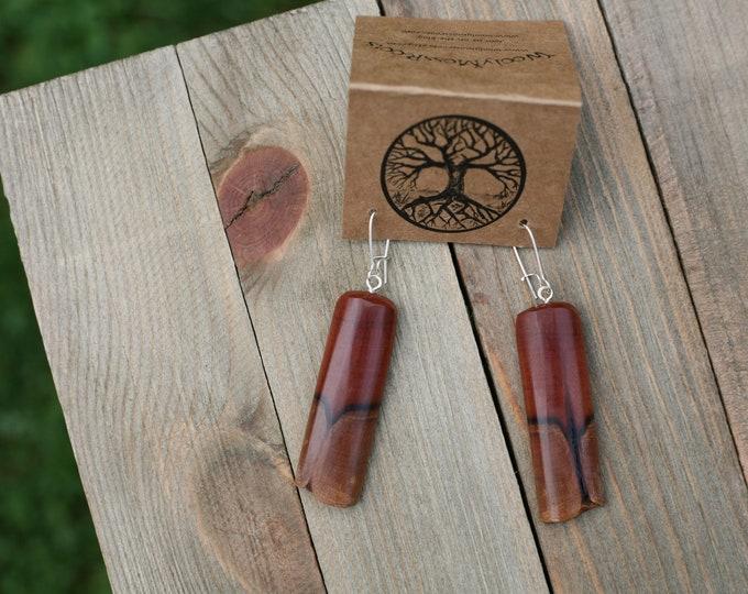 Mountain Mahogany Wood Earrings