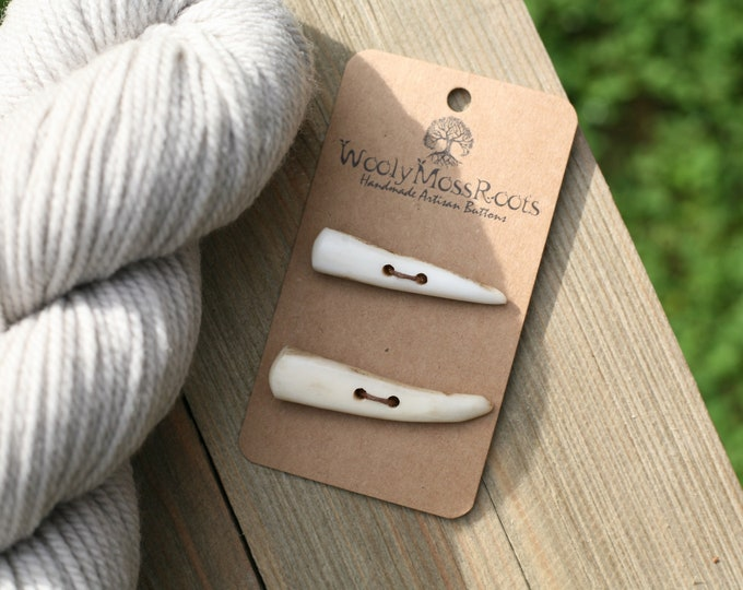 2 Shed Deer Antler Toggle Buttons