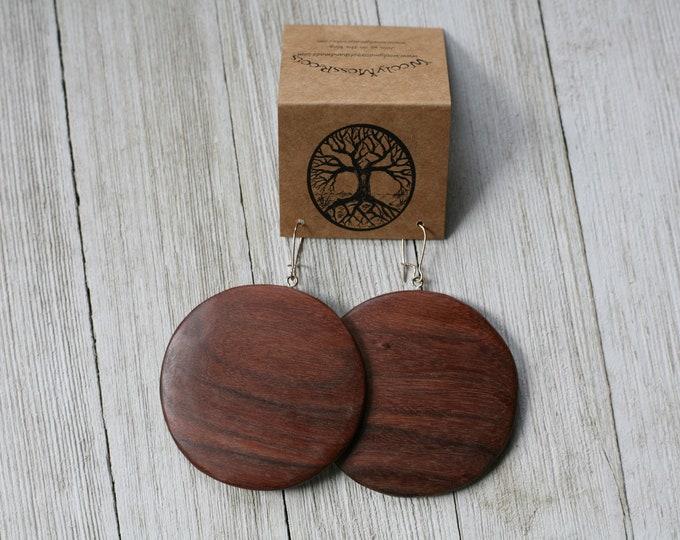 RESERVED- Earrings in Oregon Juniper & Black Walnut Wood