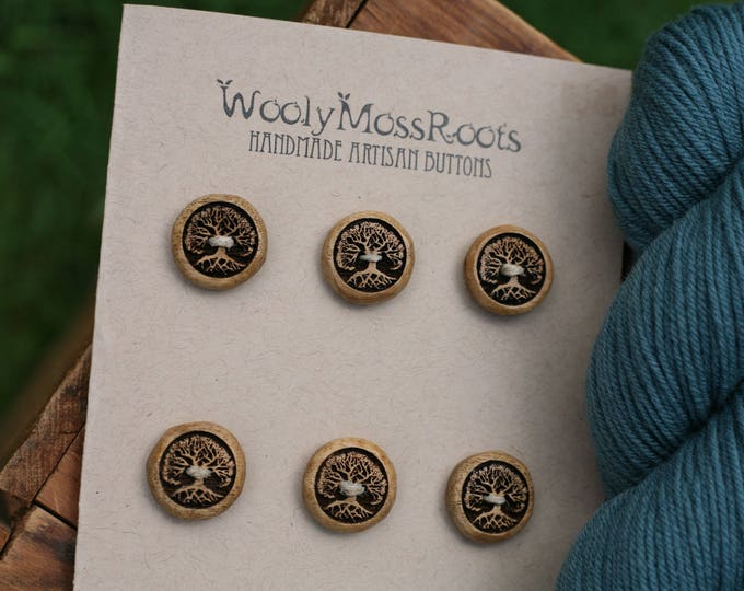 SALE! 6 Tree Buttons in Oregon Myrtlewood