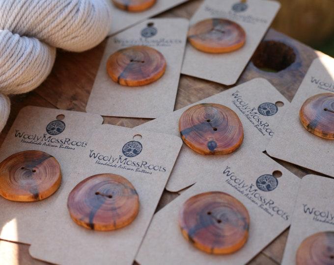 Oregon Hemlock Wood Buttons