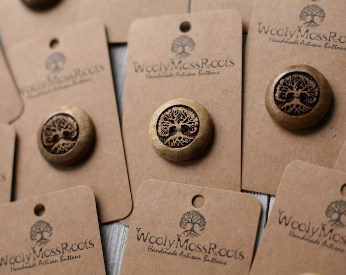 """SALE! Tree Buttons in Oregon Myrtlewood {1""""}"""
