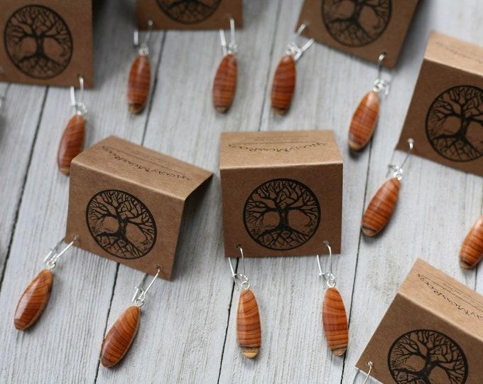 Small Wood Earrings in Oregon Yew