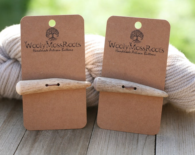 2 Rustic Toggles in Shed Deer Antler