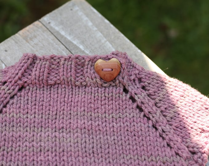 Carved Heart Buttons in Red Cedar {Price Per Button}